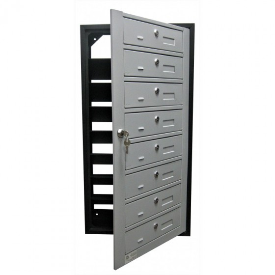 Mailbox multifamily YP - open front panel for attachment of correspondence