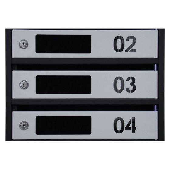Ящик поштовий ЯП-Свн (з віконцем і номером)