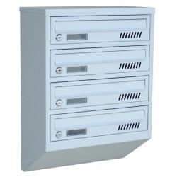 Ящик поштовий 4 секційний від виробника (ЯП-04Е)