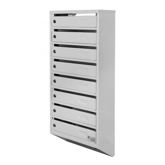 Mailbox multifamily YP-08M gray (for 8 apartments)