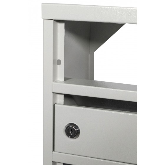 Mailbox multifamily YP-10M gray (for 10 apartments)