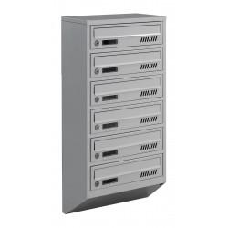 Багатоквартирні поштові ящики E1-A сірі