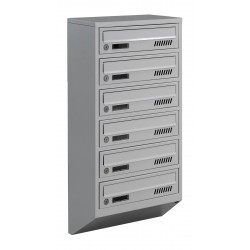 Multi mailboxes E1-A gray