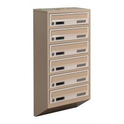 Багатоквартирні поштові ящики E1-A бежеві