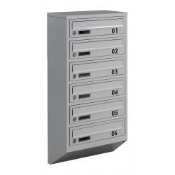 Багатоквартирні поштові ящики E1-B сірі