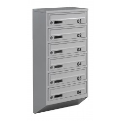 Multi mailboxes E1-B gray