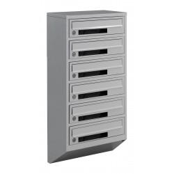 Многоквартирные почтовые ящики E1-C серые
