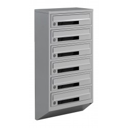 Multi mailboxes E1-C gray