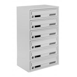Багатоквартирні поштові ящики E2-A сірі