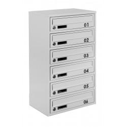Multi mailboxes E2-B gray