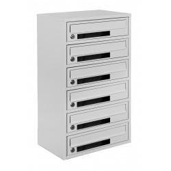 Multi mailboxes E2-C gray