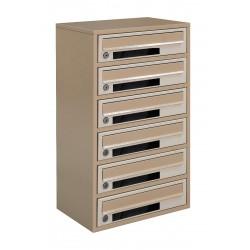 Multi mailboxes E2-C beige