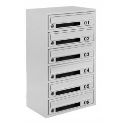 Multi mailboxes E2-D gray