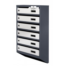 Mailboxes in the entrance of apartment buildings YP-M anthracite-gray
