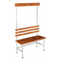Dressing room bench with hanger, one-sided (LG-4-1000)