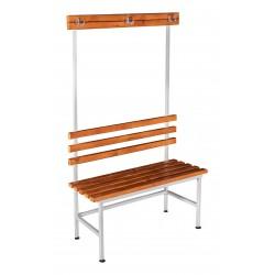 Скамья гардеробная для раздевалки с вешалкой односторонняя (ЛГ-4-1000)