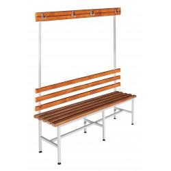Скамья гардеробная для раздевалки с вешалкой односторонняя (ЛГ-4-2000)