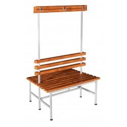 Скамья гардеробная для раздевалки с вешалкой двухсторонняя (ЛГ-5-1000)