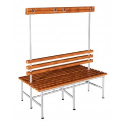 Скамья гардеробная для раздевалки с вешалкой двухсторонняя (ЛГ-5-2000)