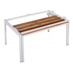 Скамья выдвижная с подставкой для шкафа металлического (ЛГ-7-600)