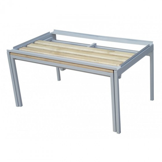 Sliding bench for clothes cabinets