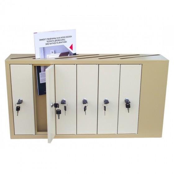 Щілинні багатоквартирні поштові скриньки (ЯП-А) - відкриті дверцята