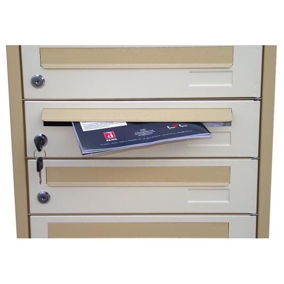Почтовый ящик многосекционный (ЯП-К) - пример вложения корреспонденции