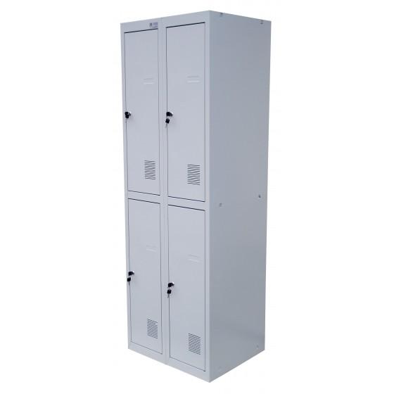 Шкафы для раздевалок металлические двухуровневые (ШОМ-2)