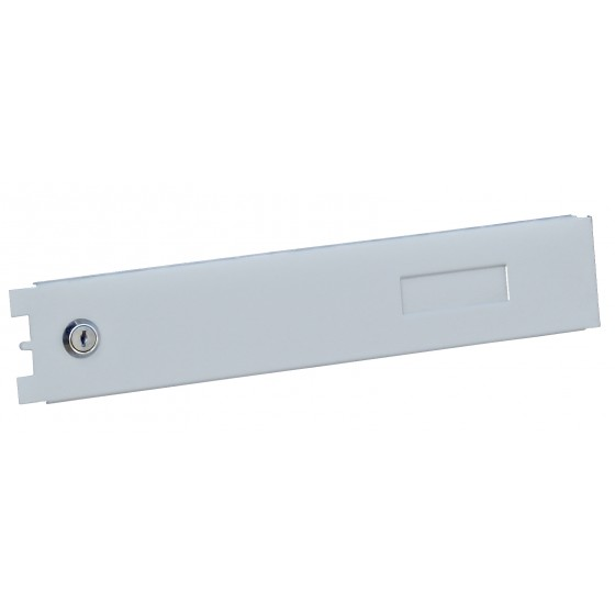 Дверцята сірі з замком для поштових скриньок багатоквартирних